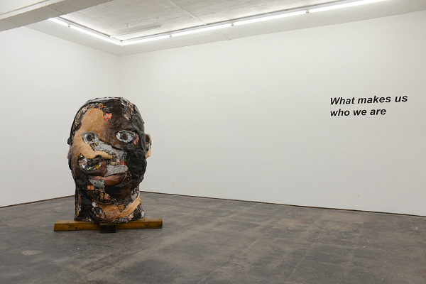 The Head - a collaborative sculpture exploring identity. Photo credit Peter Griffiths
