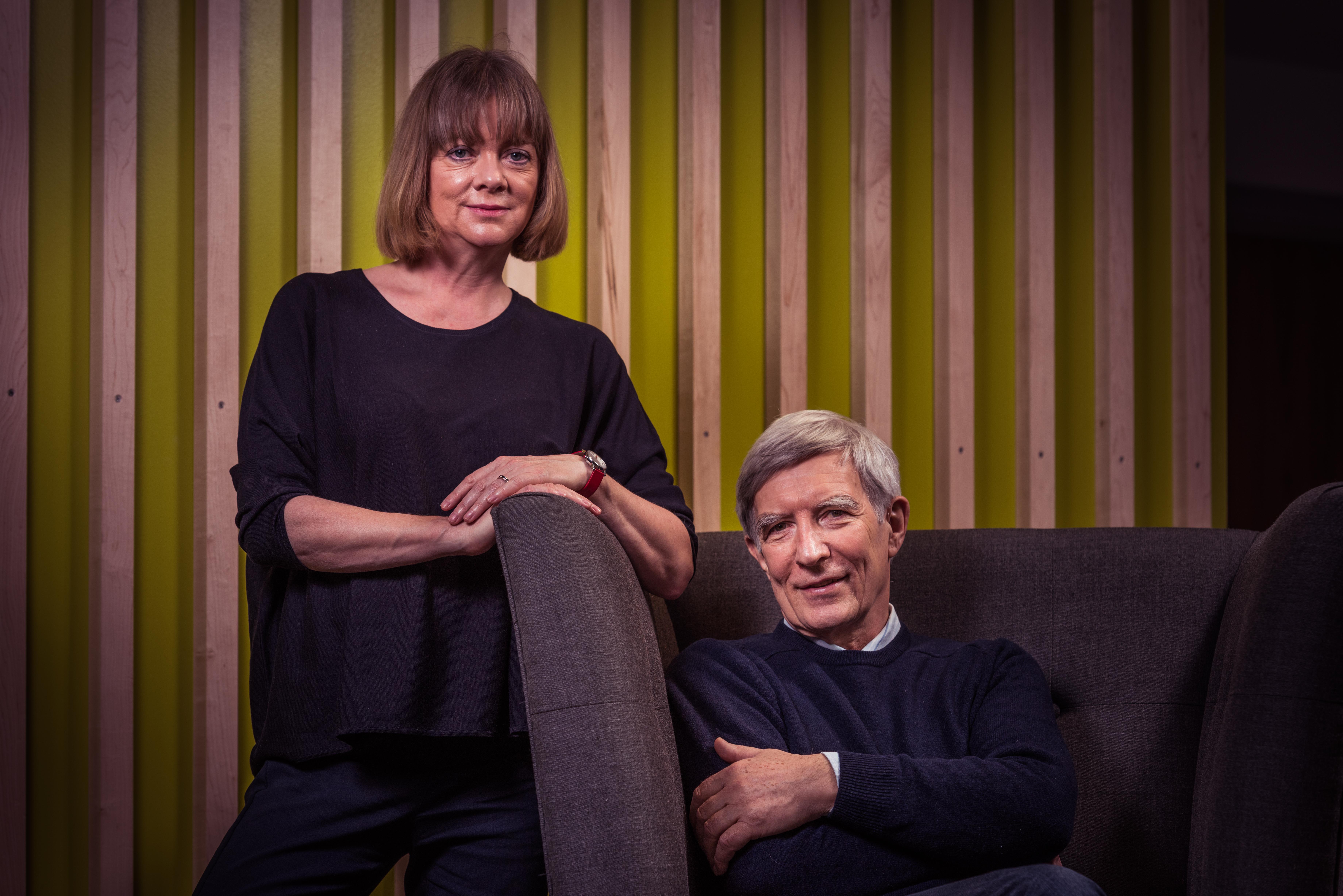 Professor Kate Pickett and Richard Wilkinson portrait by Alex Holland