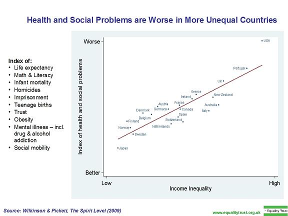 discuss the relationship between social inequality and health