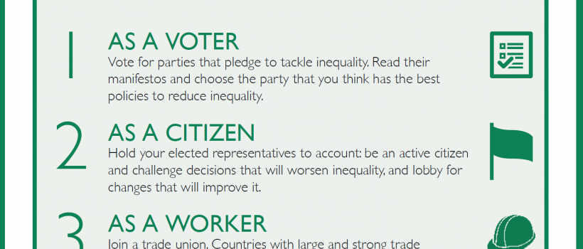 10 things you can do to reduce inequality