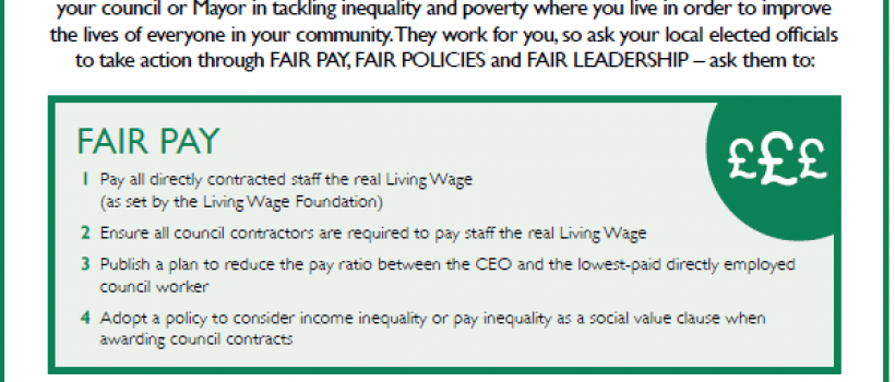 the fairness 15 - The Equality Trust local manifesto