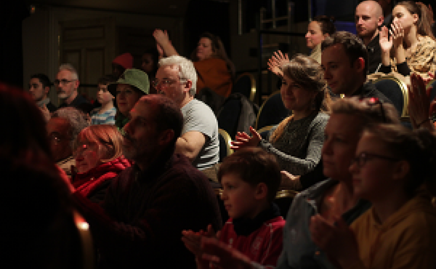 Picture of the audience from Speak to Power Jan 2019 photo credit Boris Burner