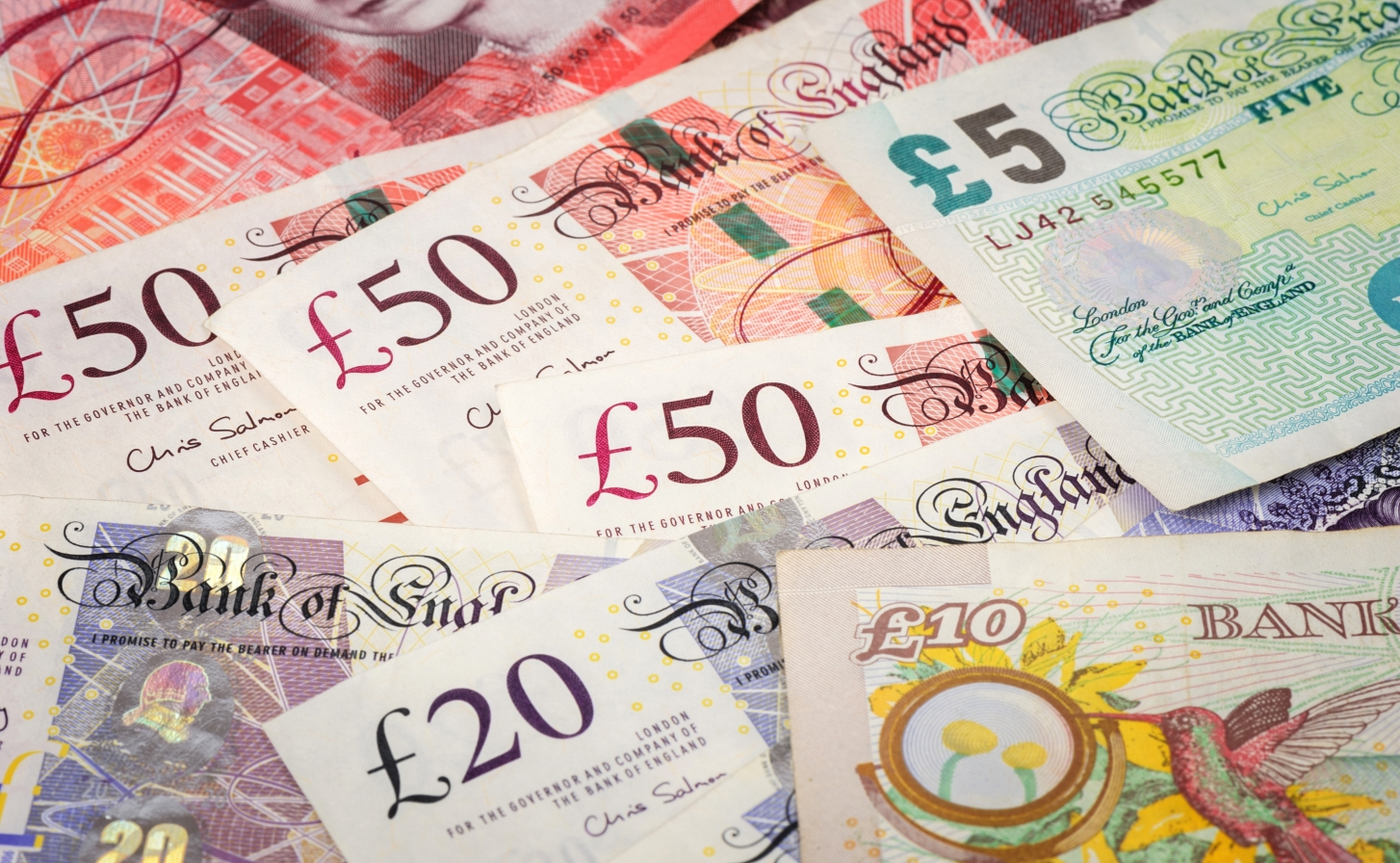 iStock-628516870 Norasit Kaewsai pounds - picture of lots of British paper currency
