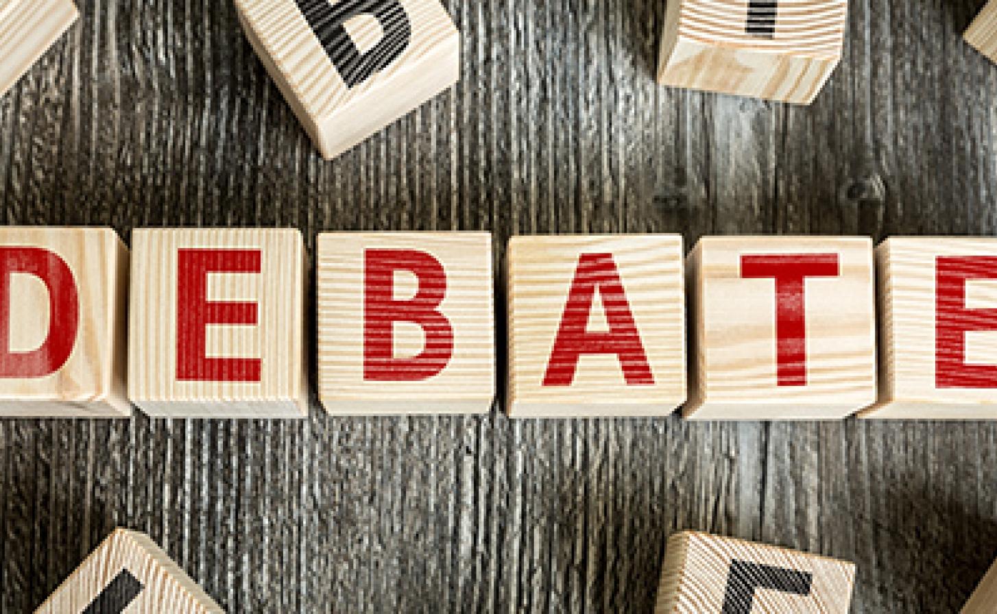 Debate stock photo credit Gustavo Frazao